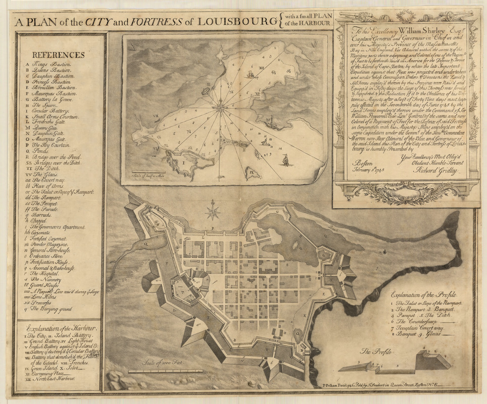 Plan of the city and fortress of Louisbourg