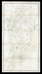 Plan of the peninsula of Chesopeak [sic] Bay