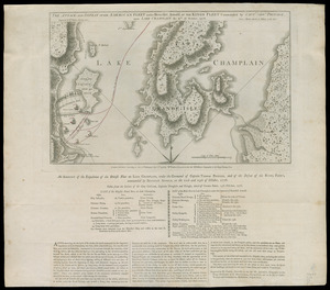 The Attack and defeat of the American fleet under Benedict Arnold, by the Kings fleet commanded by Captn. Thos. Pringle, upon Lake Champlain, the 11th of October, 1776