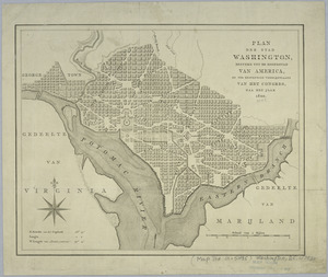 Plan der stad Washington
