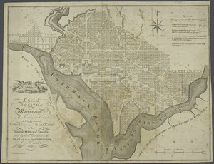 Plan of the city of Washington in the territory of Columbia