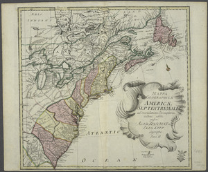 Mappa geographica Americae Septentrionalis
