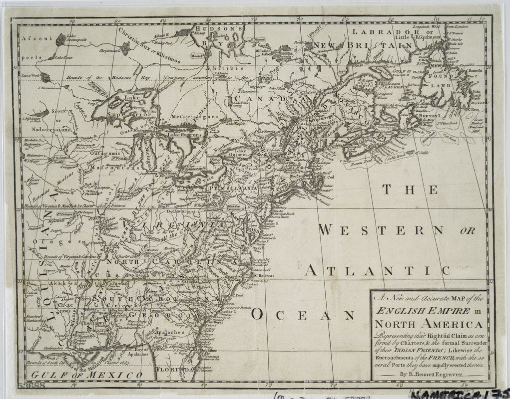 A new and accurate map of the English empire in North America