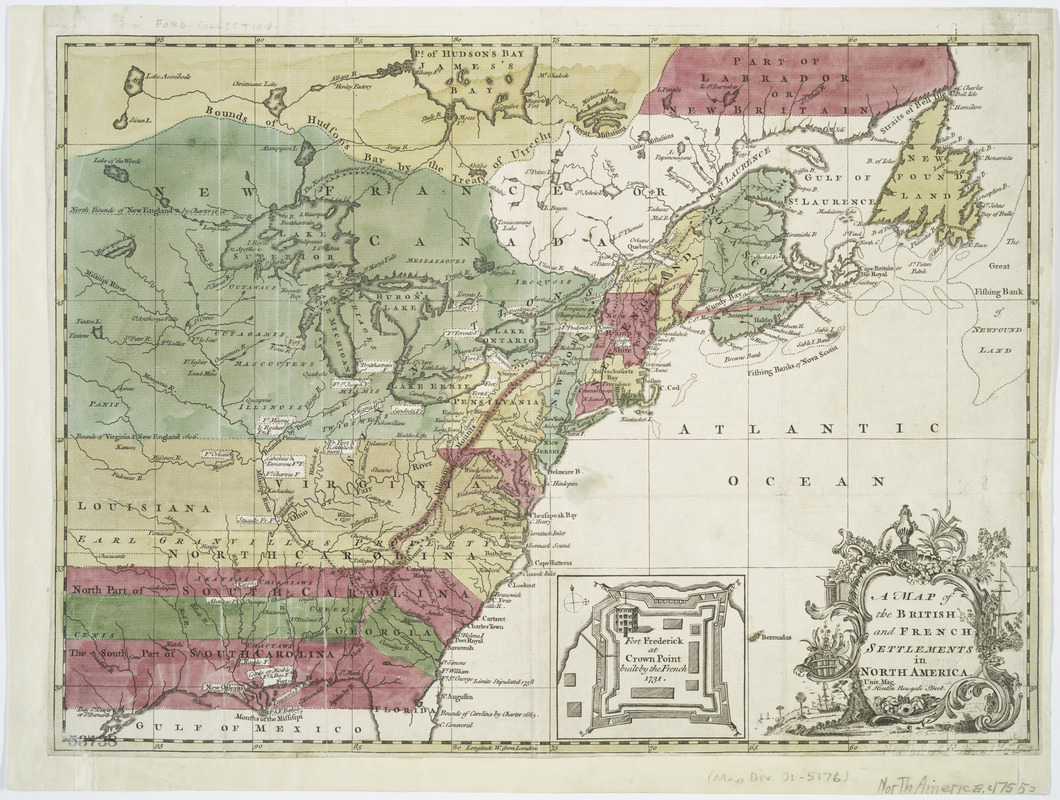A Map of the British and French settlements in North America