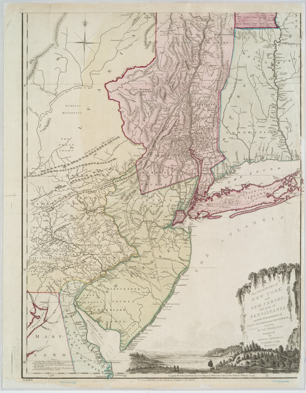 The provinces of New York, and New Jersey; with part of Pensilvania, and the governments of Trois Rivières, and Montreal