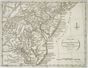 An exact map of New Jersey, Pensylvania [sic], New York, Maryland & Virginia, from the latest surveys