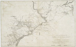 A map of the country from Rariton River in East Jersey to Elk Head in Maryland