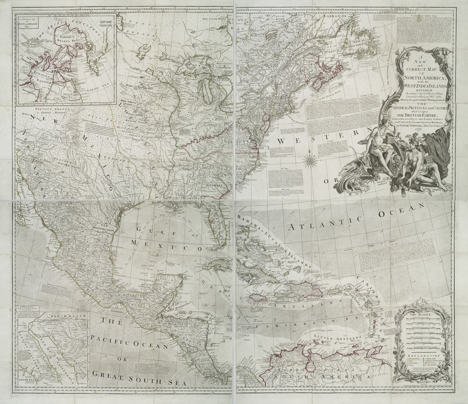 A new and correct map of North America with the West India Islands