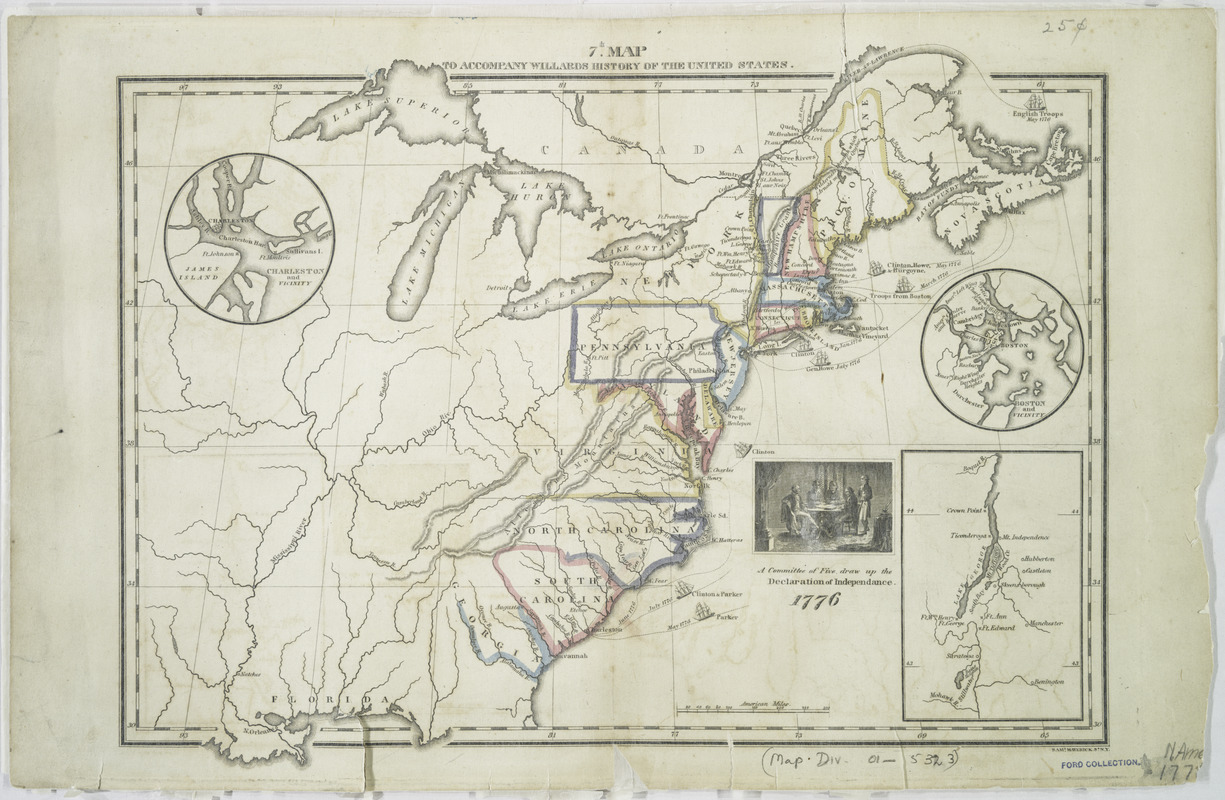 7th map to accompany Willards History of the United States