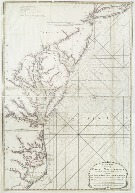 A new chart of the coast of North America