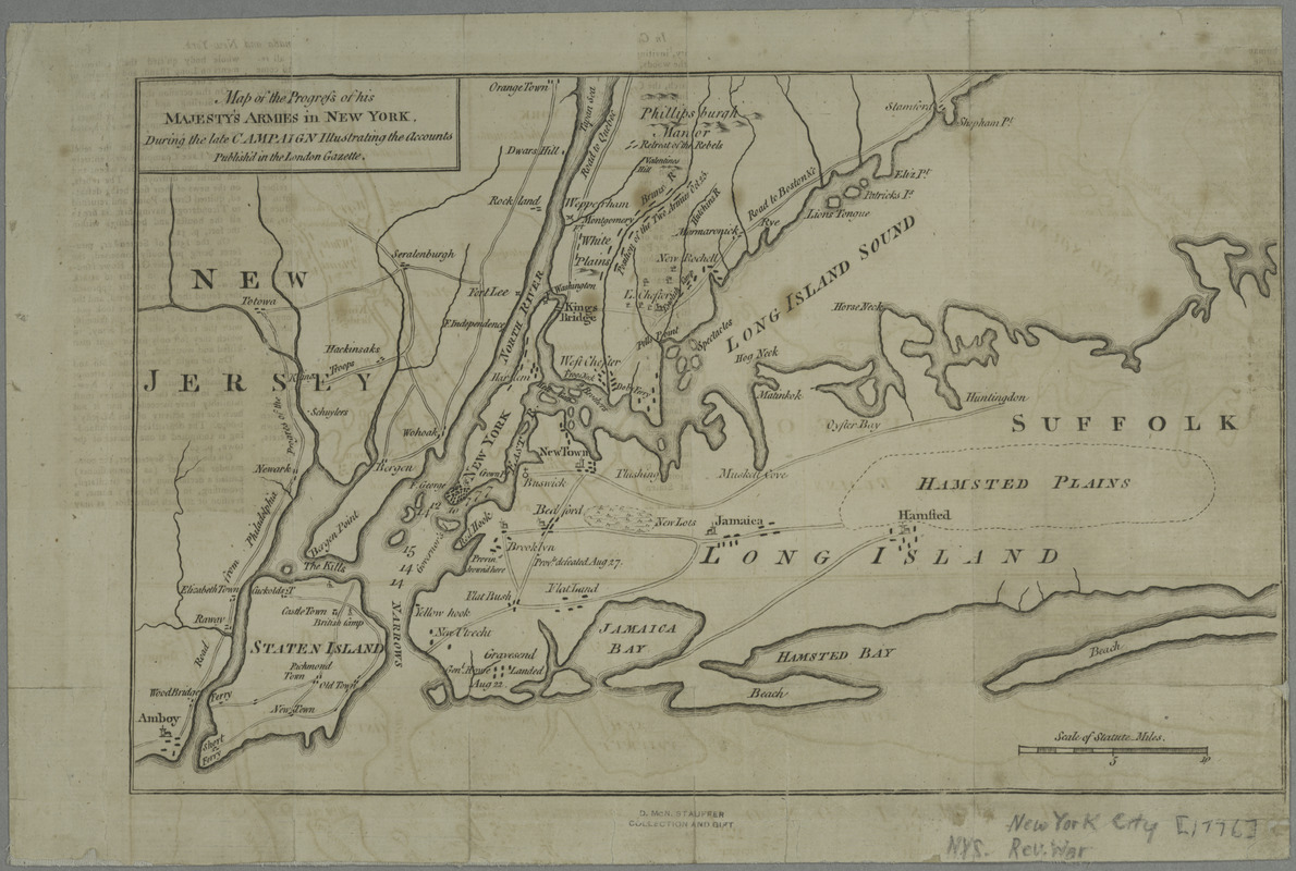 Map of the progress of His Majesty's armies in New York, during the late campaign