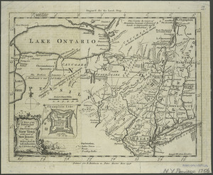 A map of the eastern part of the province of New York with part of New Jersey, & c