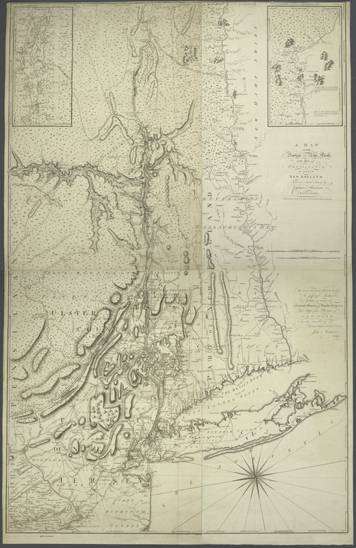 A map of the Province of New York, with part of Pensilvania, and New England