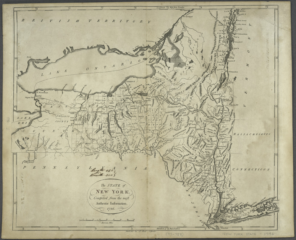The state of New York, compiled from the most authentic information, 1796