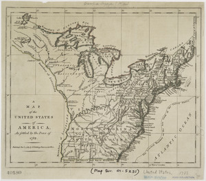 A map of the United States of America, as settled by the peace of 1783