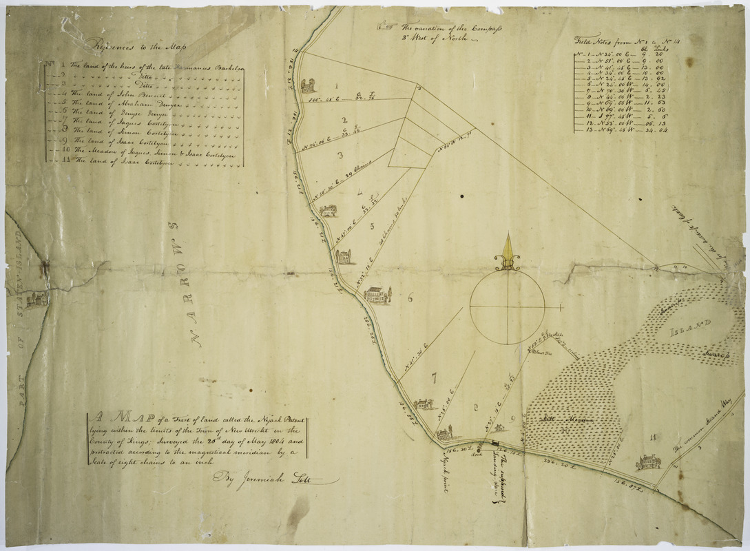 Map of a tract of land called the Nyack Patent lying within the limits of the town of New Utrecht in the County of Kings