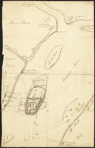 [Map of the Siege of Mud Island Fort]