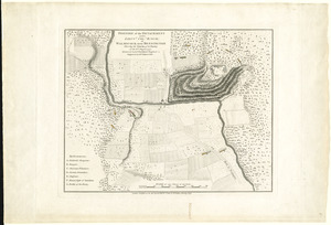 Position of the detachment under Lieut. Col. Baum, at Walmscock near Bennington shewing the attacks of the enemy on the 16th August 1777