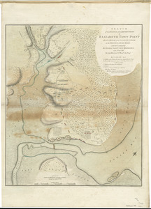 Sketch of the position of the British forces at Elizabeth Town Point after their return from Connecticut Farm, in the province of East Jersey