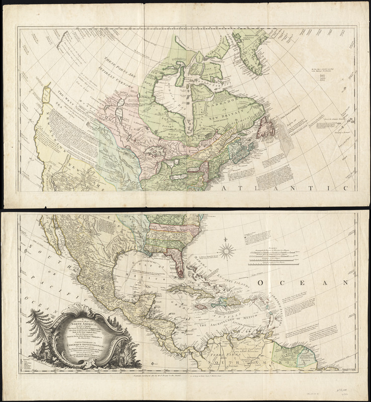 A general map of North America