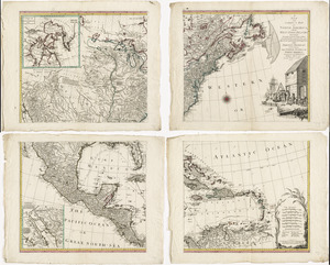 A new and correct map of North America, with the West India Islands