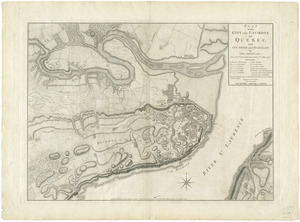 Plan of the city and environs of Quebec, with its siege and blockade by the Americans, from the 8th of December 1775 to the 13th of May 1776