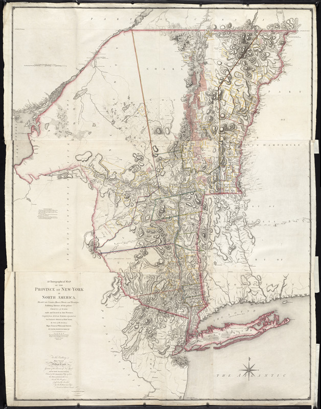 A chorographical map of the Province of New-York in North ... on