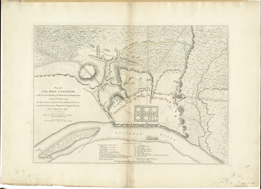 Plan of the siege of Savannah