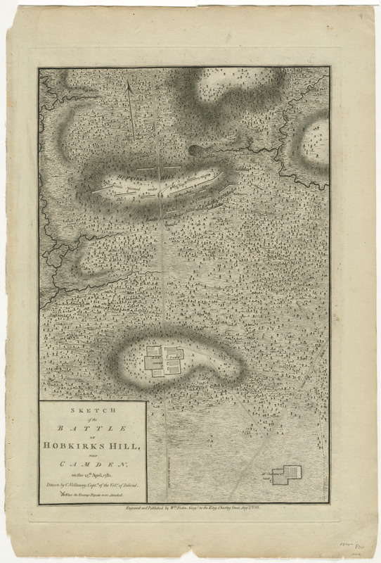 Sketch of the battle of Hobkirks Hill, near Camden, on the 25th April 1781