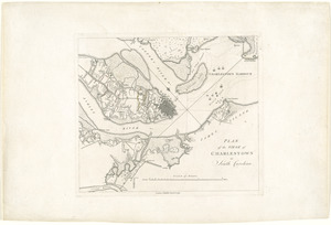 Plan of the siege of Charlestown in South Carolina