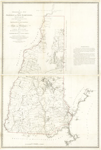 A topographical map of the Province of New Hampshire