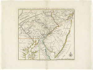 A chorographical map, of the country, round Philadelphia =