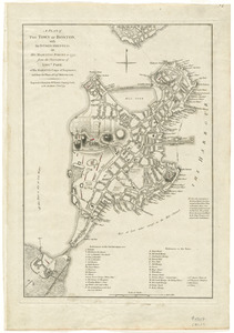 A plan of the town of Boston with the intrenchments & ca. of His Majesty's forces in 1775