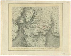 A sketch of the battle near Camden in South Carolina, 16 Augst. 1780