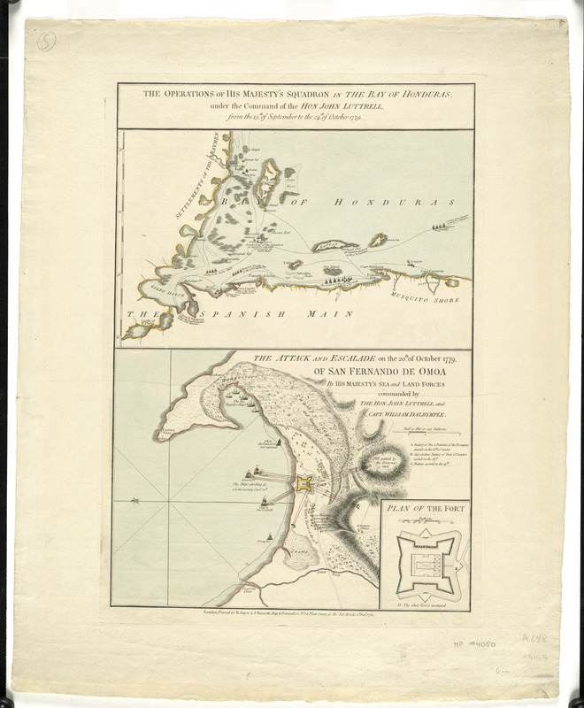 The operations of His Majesty's squadron in the Bay of Honduras, under the command of the Hon. John Luttrell from the 15th of September to the 24th of October 1779