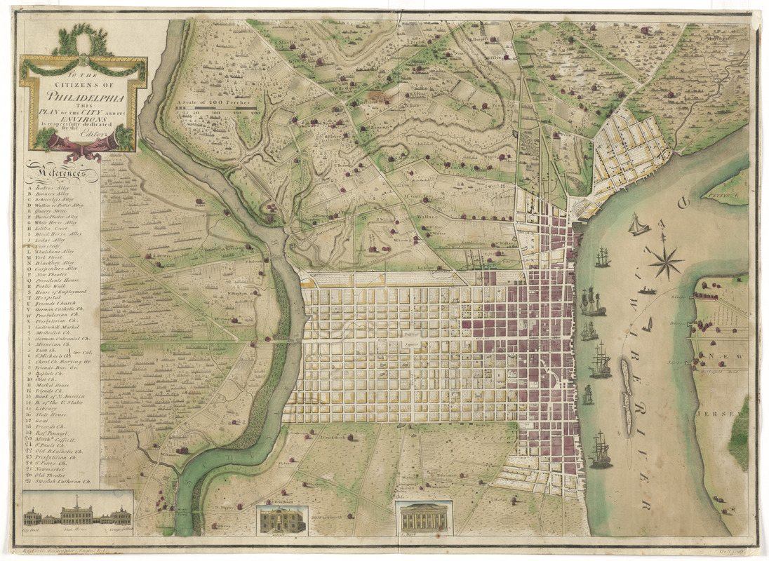 To the citizens of Philadelphia this plan of the city and its environs