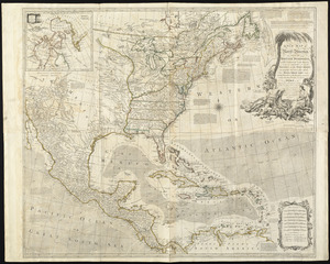 A new map of North America wherein the British Dominions in the continent of North America