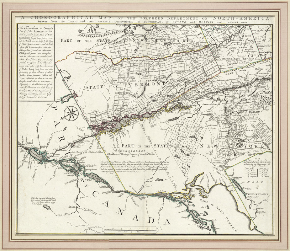 A chorographical map of the northern department of North-America