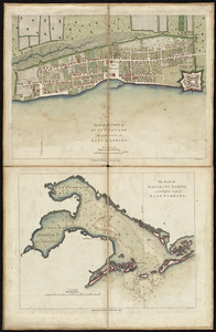 Plan of the town of St. Augustine, the capital of East Florida ; The bay of Espiritu Santo, on the western coast of East Florida