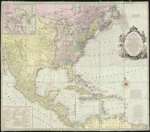 Bowles's new and accurate map of North America and the West Indies