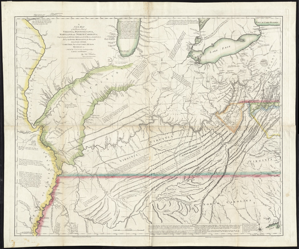 A new map of the western parts of virginia pennsylvania maryland a new map of the western parts of virginia pennsylvania maryland and north carolina sciox Gallery