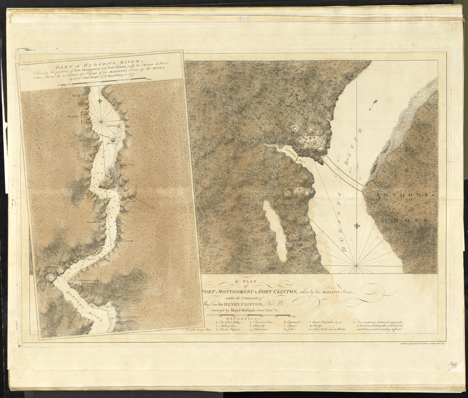 A plan of Fort Montgomery & Fort Clinton, taken by His Majesty's forces, under the command of Maj. Genl. Sir Henry Clinton, K:B