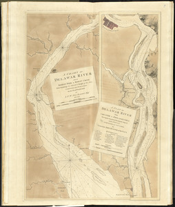 A chart of Delawar River from Bombay Hook to Ridley Creek, with soundings &c taken by Lt. Knight of the Navy