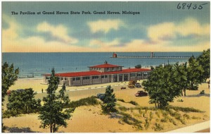 The pavilion of Grand Haven State Park, Grand Haven, Michigan