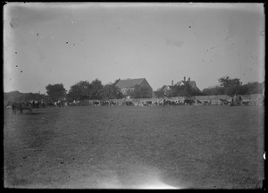 Ag fair, WT. In background: Capt Cyrus Manter house on Music St. & his barn next to the fence
