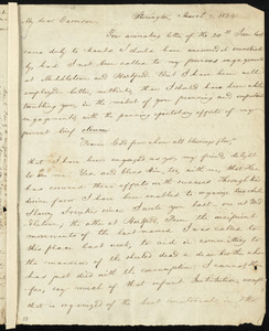 Letter from Charles Wheeler Denison, Stonington, [Conn.], to William Lloyd Garrison, March 7, 1834