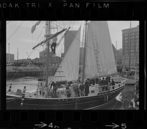 Black Pearl docked in Boston for the commemoration of the Hawaiian Mission Sesquicentennial