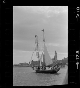 Black Pearl in Boston Harbor concluding the commemoration of the Hawaiian Mission Sesquicentennial