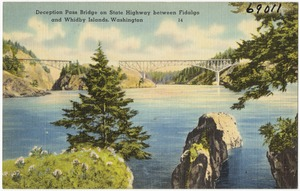 Deception Pass Bridge on State Highway between Fidalgo and Whidby Island, Washington