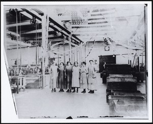 Wood mill workers